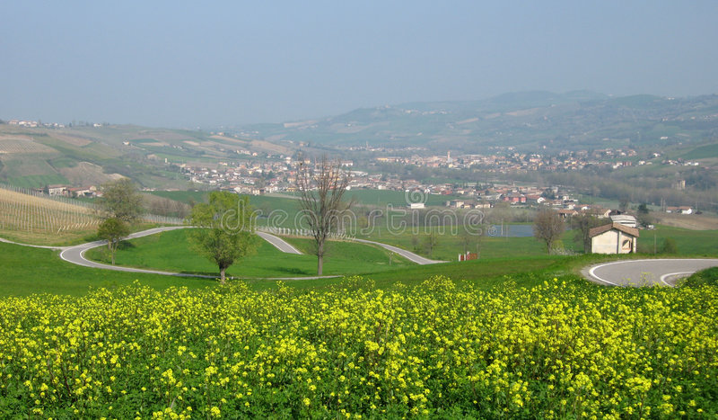 obszarów wiejskich krajobrazowa wiosna obraz royalty free