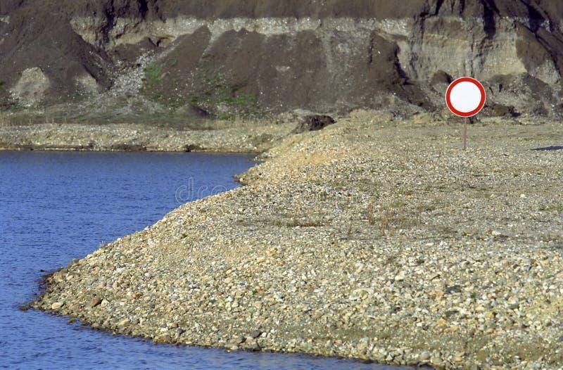 obszar chroniony ostrzeżenie zdjęcie stock