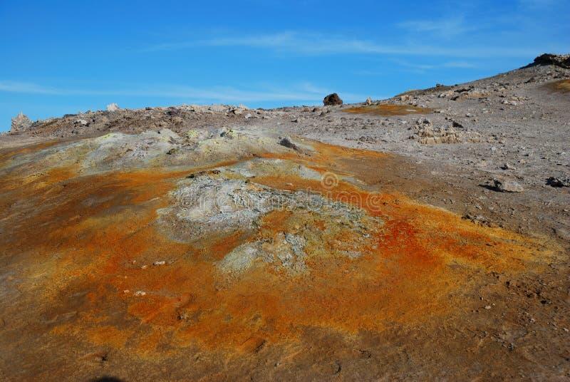 obszar geotermiczny zdjęcie stock
