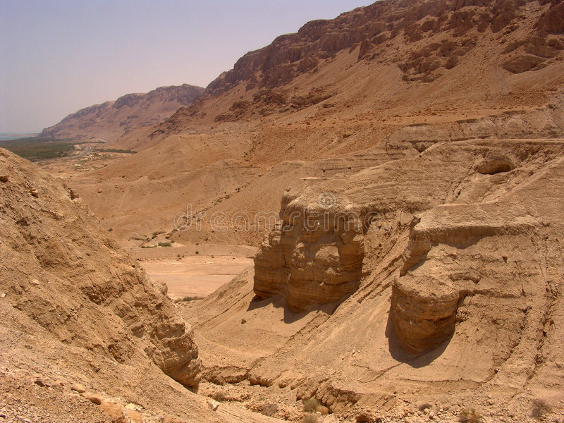 obszar qumran kształtuje israel fotografia royalty free