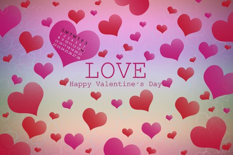 obszyty dzień serc ilustraci s dwa valentine wektor obraz royalty free