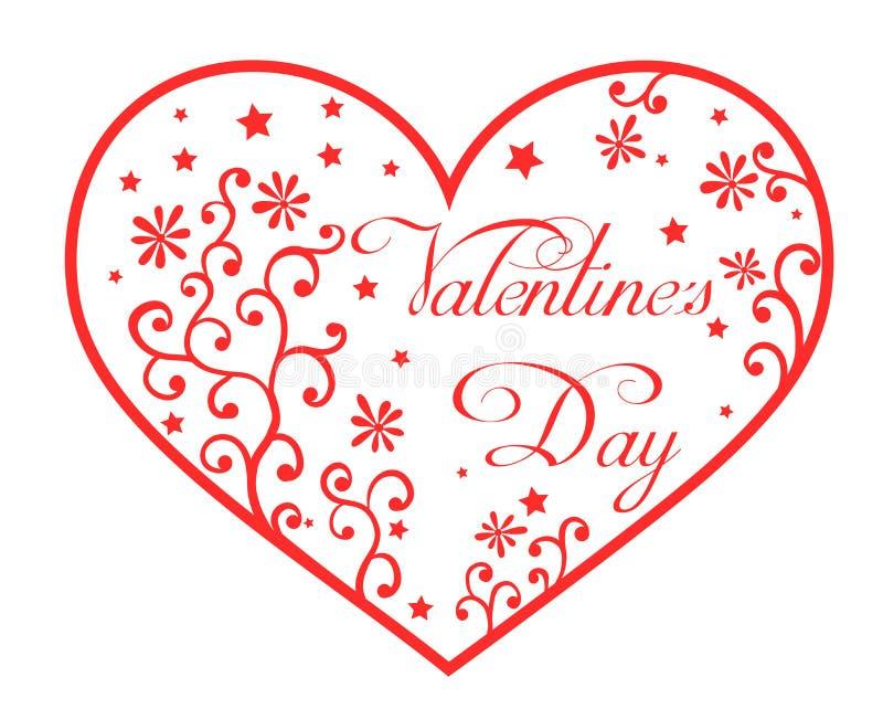 obszyty dzień serc ilustraci s dwa valentine wektor ilustracja wektor