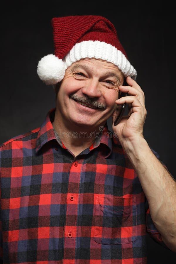 Obtendo a boa notícia na Noite de Natal foto de stock royalty free