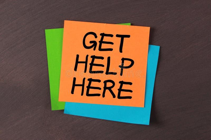 Obtenez l'aide ici photo libre de droits