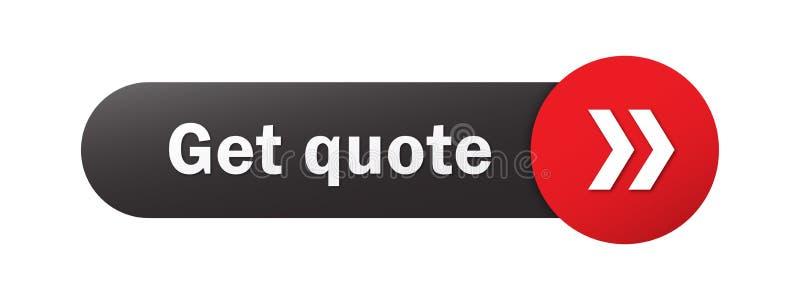 OBTENEZ le bouton de Web de CITATION avec des flèches illustration stock