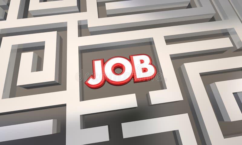 Obtenez le labyrinthe d'entrevue de Job Find Open Work Position illustration de vecteur