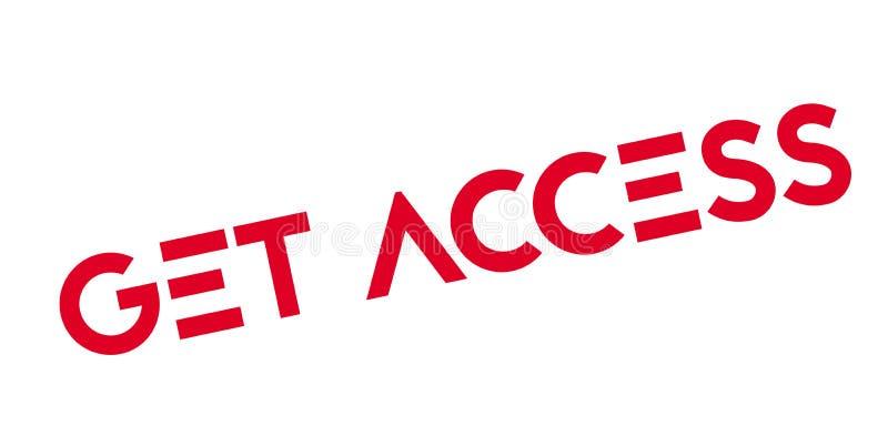 Obtenez le tampon en caoutchouc d'Access illustration libre de droits