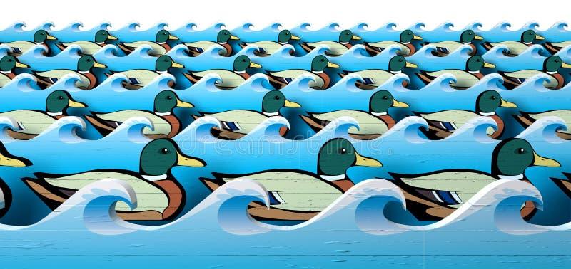 Obtenez vos canards dans une ligne illustration de vecteur