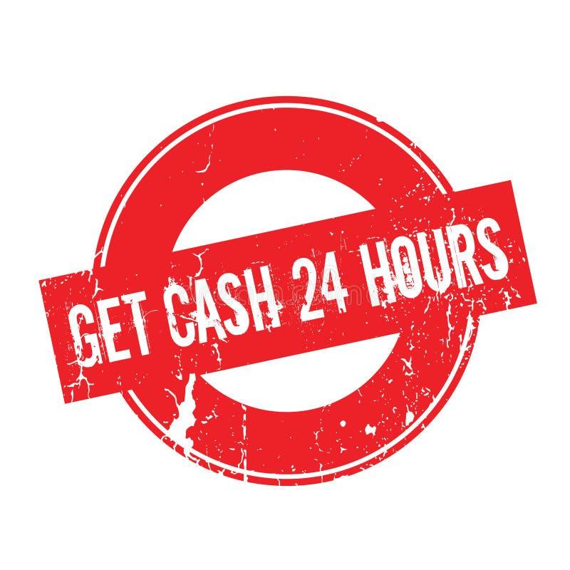 Obtenha a dinheiro 24 horas de carimbo de borracha ilustração royalty free