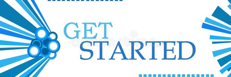 Obtenha gráficos azuis começados horizontais ilustração stock