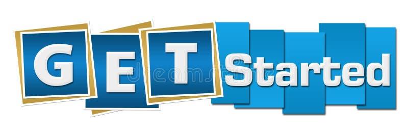 Obtenha quadrados começados das listras azuis ilustração do vetor
