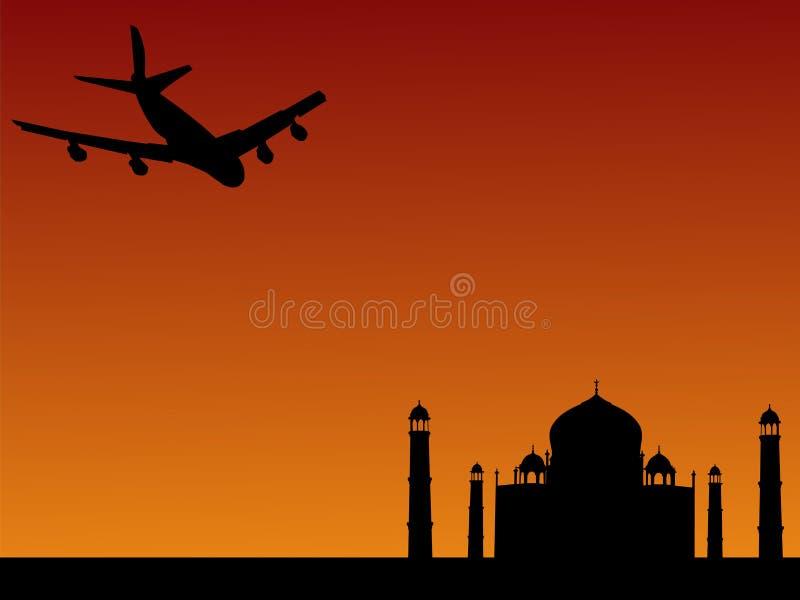 Obtenir plat chez Taj Mahal illustration libre de droits