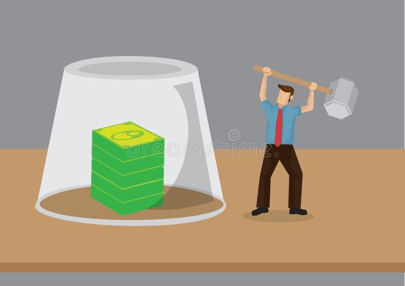 Obtention à l'illustration de vecteur d'argent illustration libre de droits