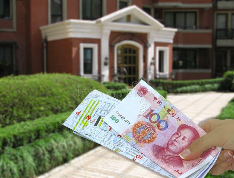 Obtention d'une maison en Chine images libres de droits