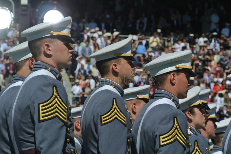 Obtention du diplôme 2015 de West Point images libres de droits