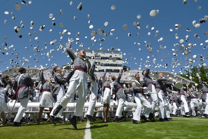 Obtention du diplôme 2015 de West Point photographie stock libre de droits