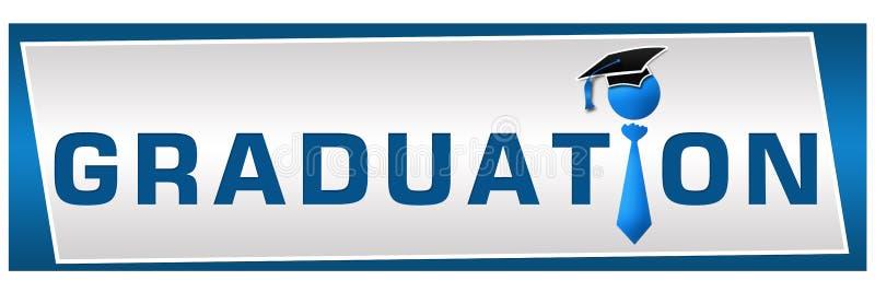 Obtention du diplôme horizontale illustration libre de droits
