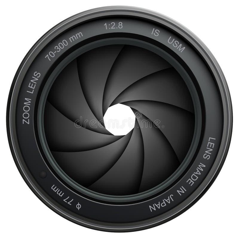Obturador de câmera ilustração stock