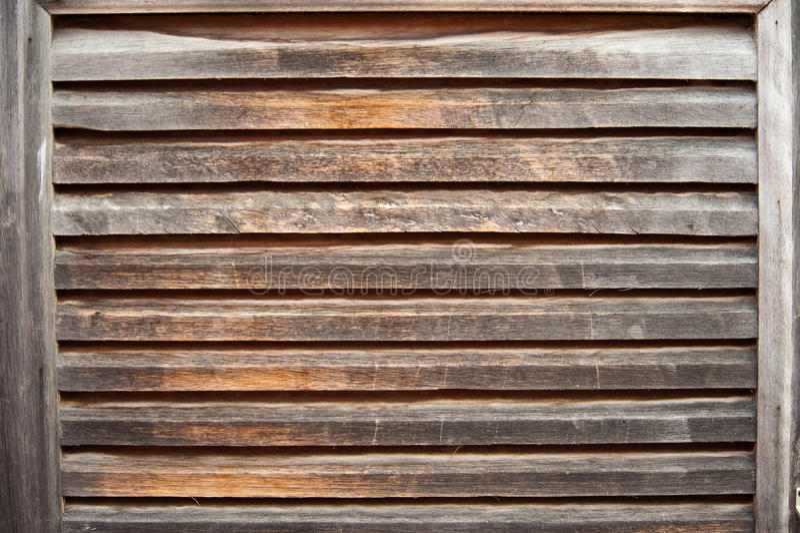 Obturador de madera envejecido foto de archivo