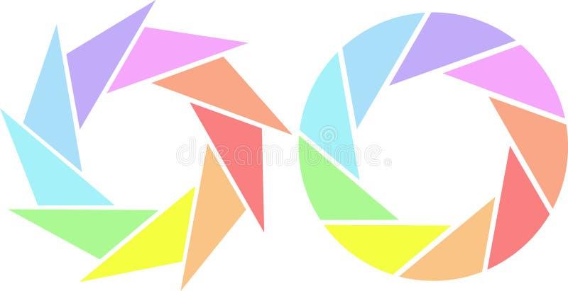 Obturadores coloridos ilustração royalty free