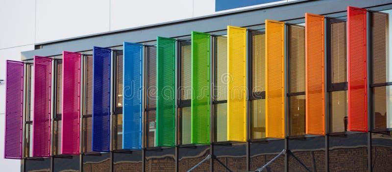 Obturadores do arco-íris fotografia de stock royalty free