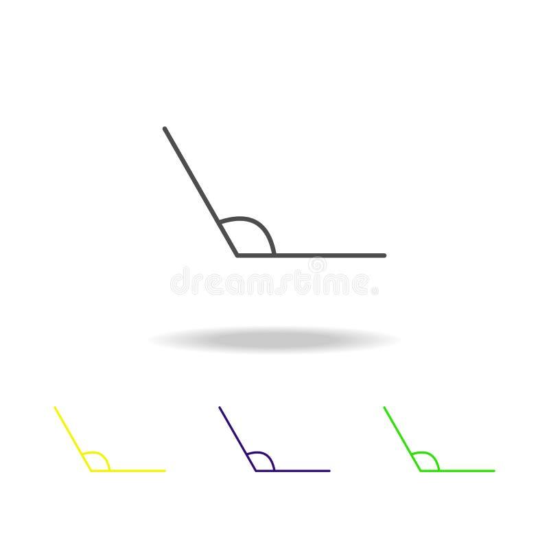 obtuse kąta barwiona ikona Może używać dla sieci, logo, mobilny app, UI, UX ilustracji