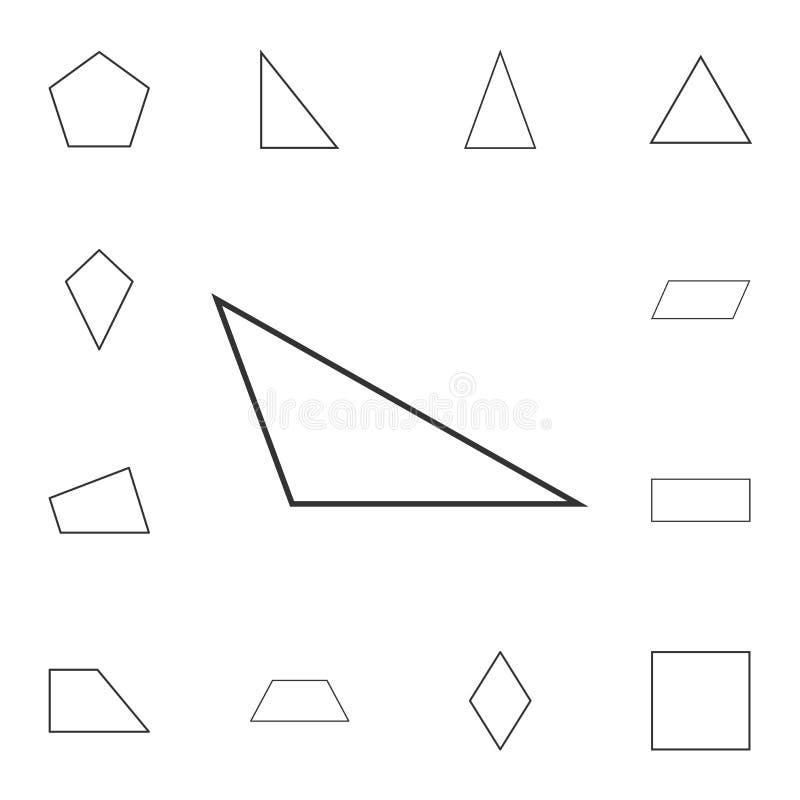 obtuse trójboka konturu ikona Szczegółowy set geometryczna postać Premia graficzny projekt Jeden inkasowe ikony dla stron interne ilustracji