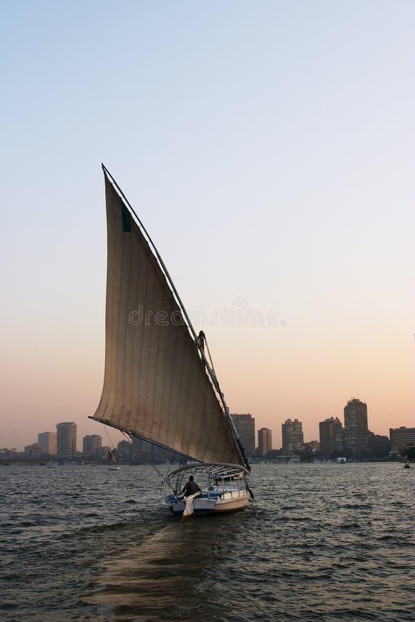 Download Obudź felucca obraz stock. Obraz złożonej z nile, łódź - 135293