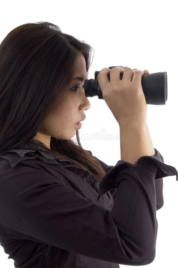 obuoczna przyglądająca kobieta zdjęcia royalty free