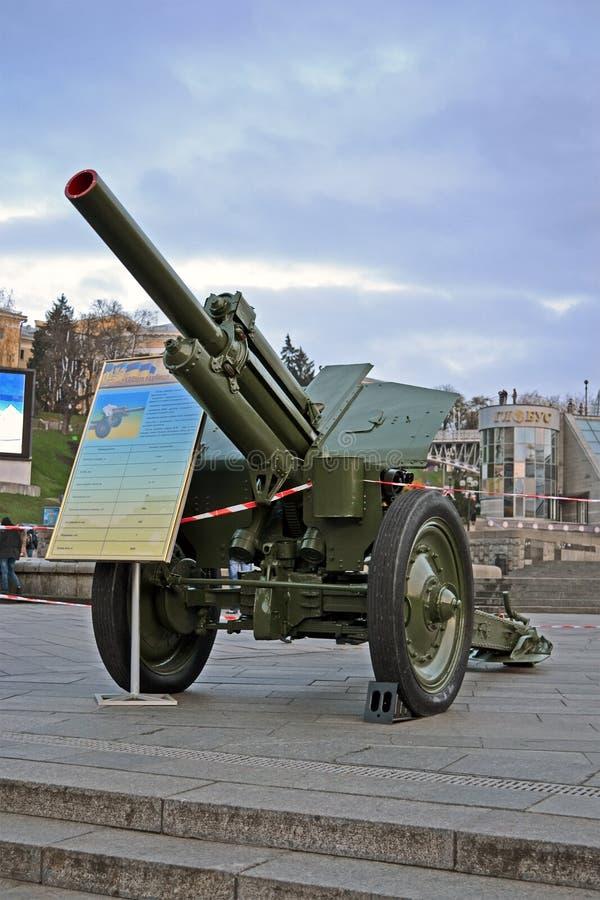 Obusier soviétique blindé M-39 de 122 millimètres de cru, photo libre de droits