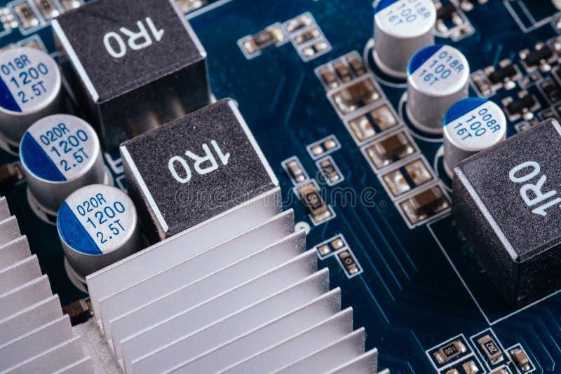 Obwód deski chipu komputerowego GPU wideo karta obrazy royalty free