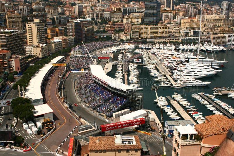 obwód formuła Monaco nad widok jeden zdjęcie royalty free