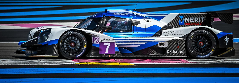 Obwód Paul Ricard, Francja, 13-14 2019 Kwiecień, 4 godziny Castellet, Europeran Le Mans serie, LMP3 N°45 - Ligier Nissan obrazy royalty free