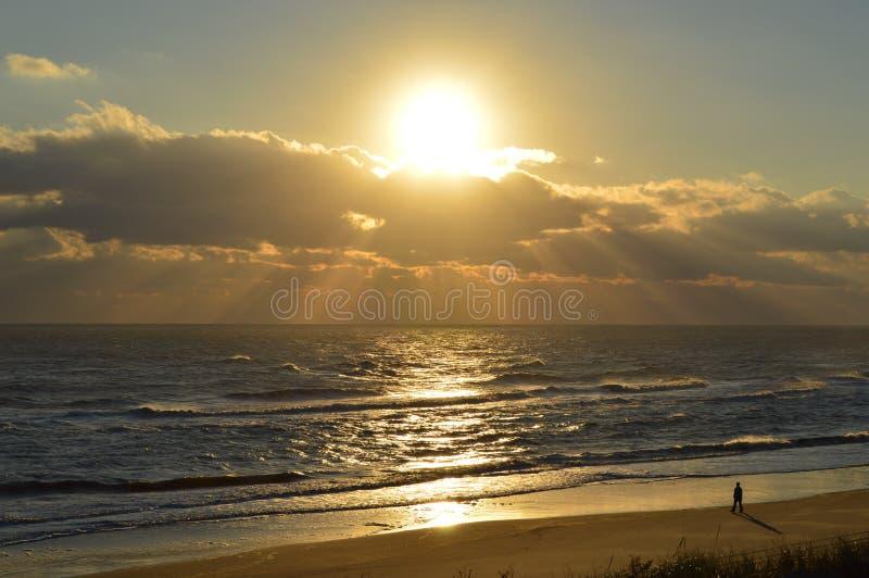 OBX-soluppgångnedgång av 2014 arkivbild
