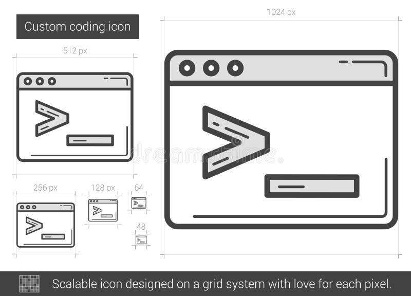 Obyczajowa cyfrowanie linii ikona ilustracji