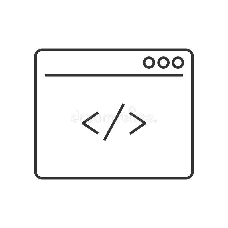 Obyczajowa cyfrowanie linii ikona ilustracja wektor