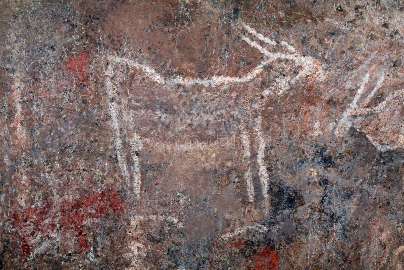 Obygdsbor vaggar målning - Sydafrika arkivbilder