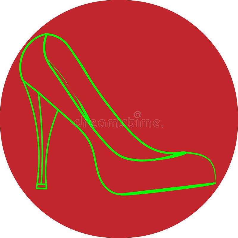 Obyv 22 red stiletto heels royalty free stock photos