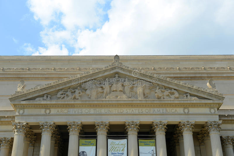 Obywatel Archiwizuje budynek w washington dc, usa zdjęcia stock