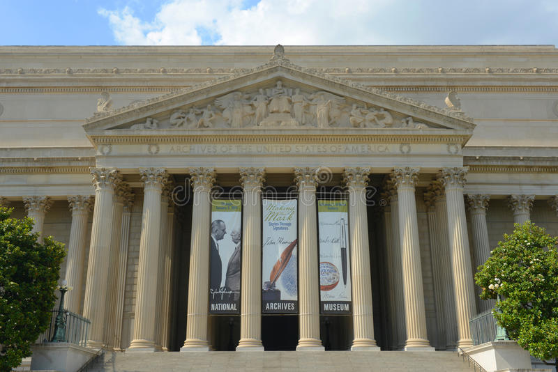 Obywatel Archiwizuje budynek w washington dc, usa obrazy royalty free