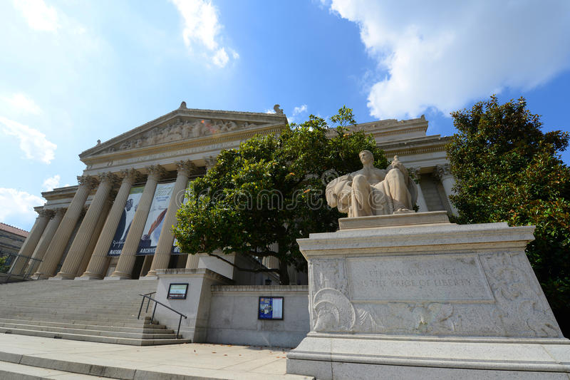 Obywatel Archiwizuje budynek w washington dc, usa obraz royalty free