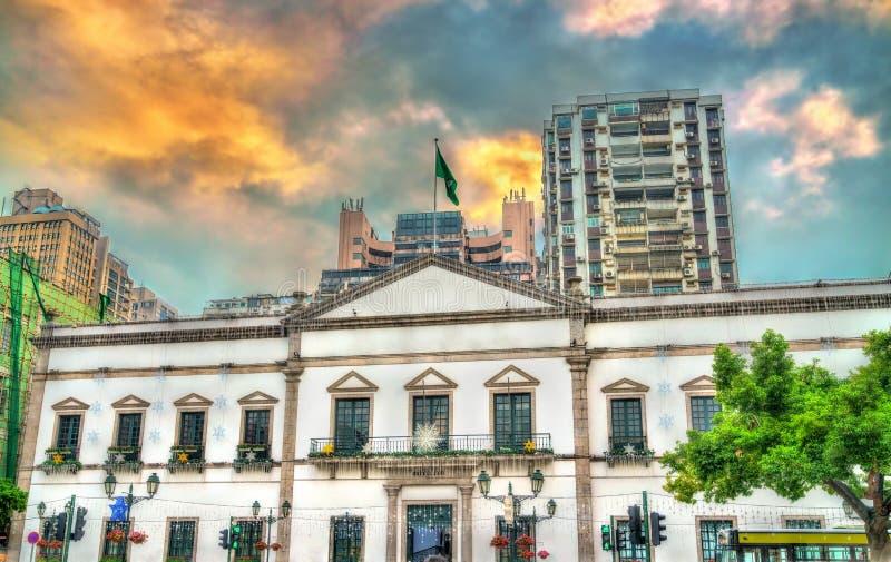 Obywatelski i Miejski sprawy biuro na Senado kwadracie w Macau, Chiny obrazy royalty free