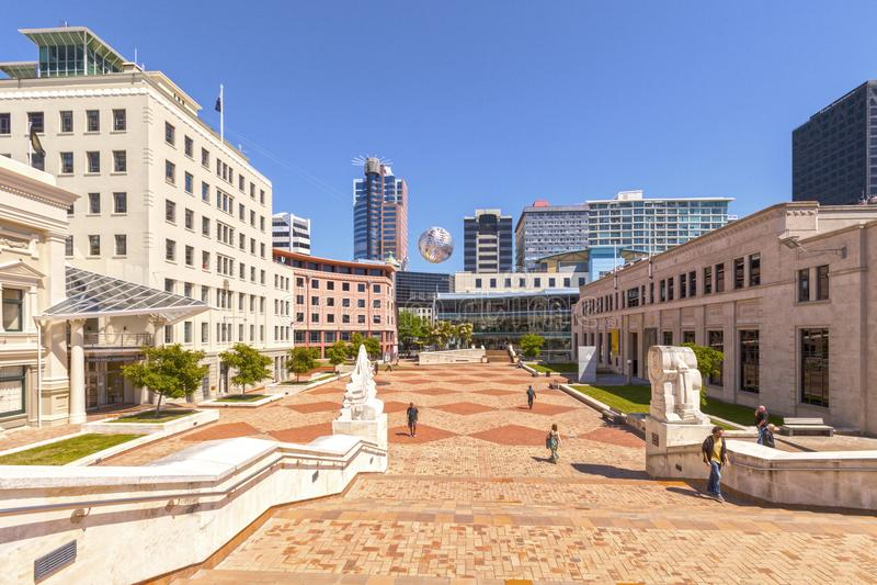 Obywatelski kwadrat, Wellington fotografia royalty free
