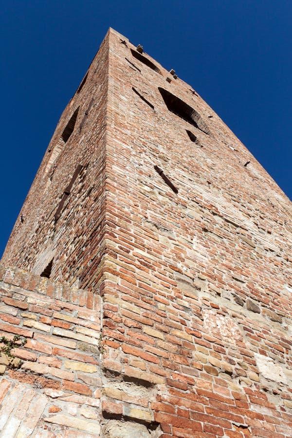 Obywatelski wierza w Malatesta fortecy w longiano zdjęcia royalty free