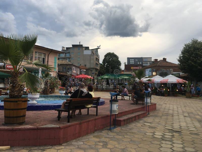 Obzor Central square, Bulgaria royalty free stock image