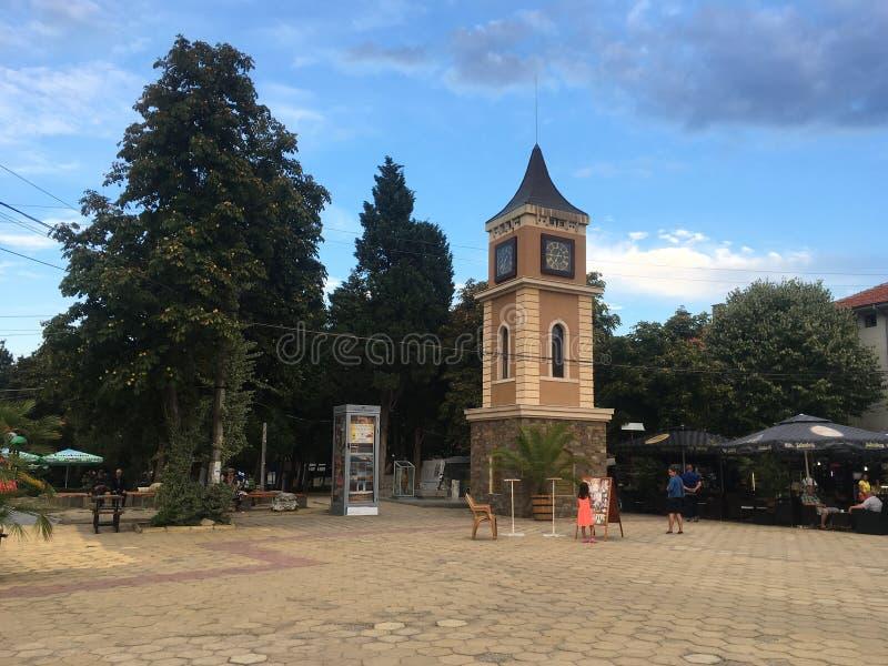 Obzor Central square, Bulgaria stock images