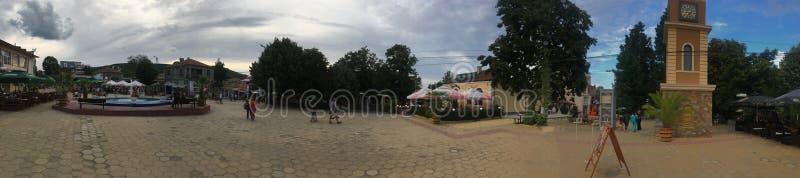 Obzor Central square panorama, Bulgaria stock photos