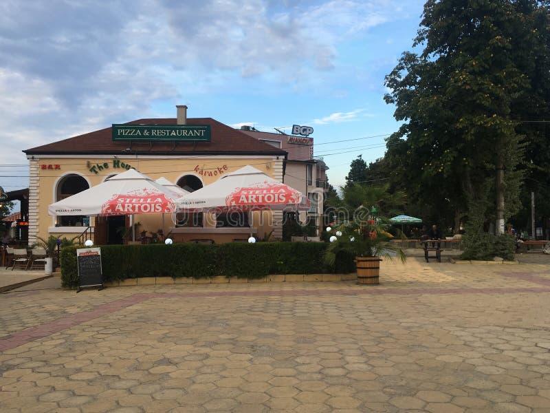 Restaurant in Obzor, Bulgaria stock photography