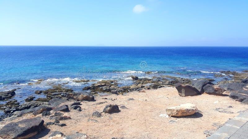 Océan à Lanzarote photo libre de droits