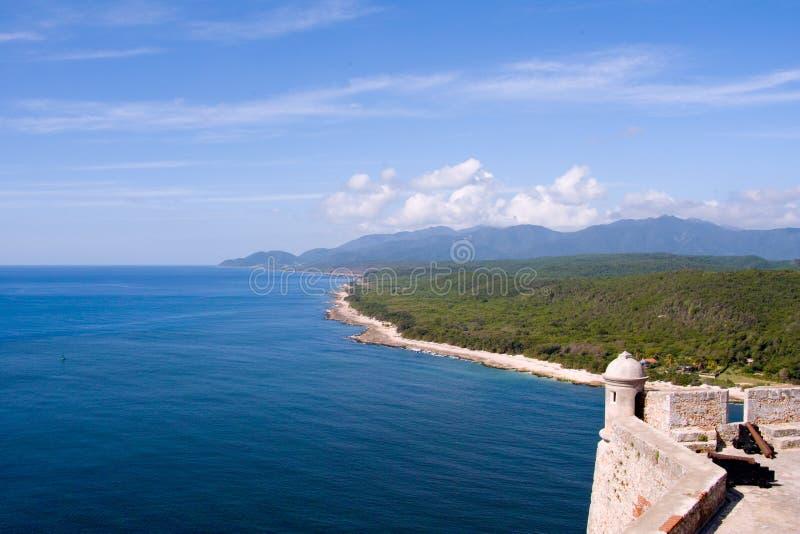 Océan au Cuba images stock